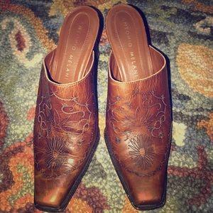 Antonio Melani high heel western look mules